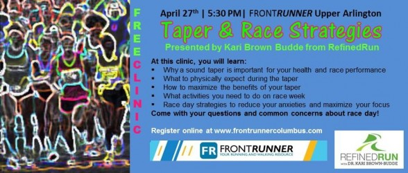 The Importance of the Taper & Race Day Strategies Clinic