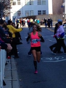 Laura, on her way to a new PR at the 2013 Columbus Marathon
