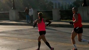 Laura, demonstrating that new hip control and perfected running form