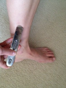 Dr. Brown Budde performing Graston Technique for Medial Shin Splints, Posterior Tibialis Tendonopathy