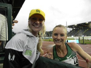 2012 Olympic Trials: Dr. Brown Budde with Shalane Flanagan, Olympian and American Record holder in the 10,000m.