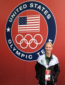 Dr. Brown Budde at the 2012 USA Track and Field Olympic Trials