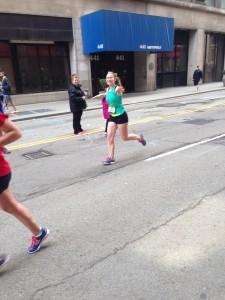Rachele loving her first marathon!