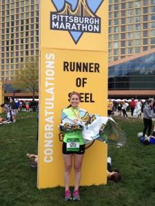 Rachele IS a Runner of Steel after her first marathon!