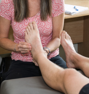 Palpation / pressure over the tender spot will help determine a stress fracture diagnosis.